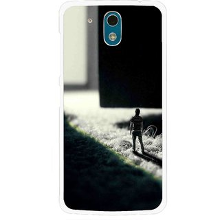 Snooky Printed God Door Mobile Back Cover For HTC Desire 326G - Black