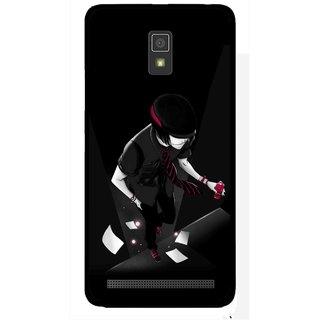 Snooky Printed Hep Boy Mobile Back Cover For Lenovo A6600 - Multicolour