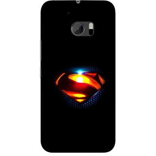 Snooky Printed Super Hero Mobile Back Cover For HTC One M10 - Black