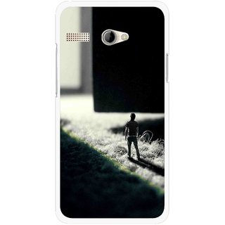 Snooky Printed God Door Mobile Back Cover For Intex Aqua 3G Pro - Black