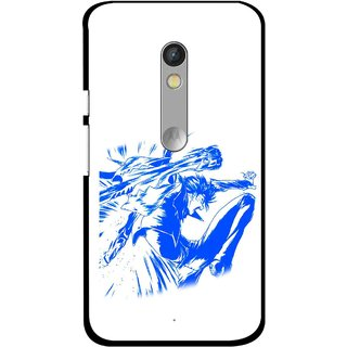 Snooky Printed Horse Boy Mobile Back Cover For Motorola Moto X Play - Multi