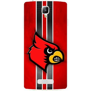 Snooky Printed Red Eagle Mobile Back Cover For Oppo Neo 3 R831k - Red