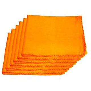 car cleaning cloth,made for cotton,orange color ( set of 2)