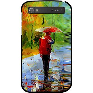 Snooky Printed Painting Mobile Back Cover For Blackberry Classic - Multi