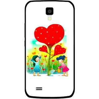 Snooky Printed Heart Plant Mobile Back Cover For Gionee Pioneer P2S - Multicolour