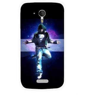 Snooky Printed Hug Me Mobile Back Cover For Micromax A116 - Multicolour