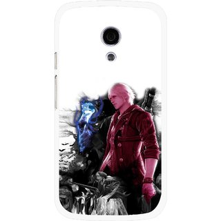 Snooky Printed Fighter Boy Mobile Back Cover For Moto G2 - Multi