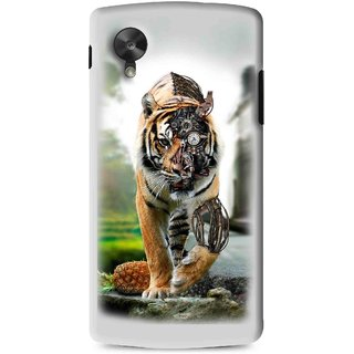 Snooky Printed Mechanical Lion Mobile Back Cover For Lg G5 - Grey