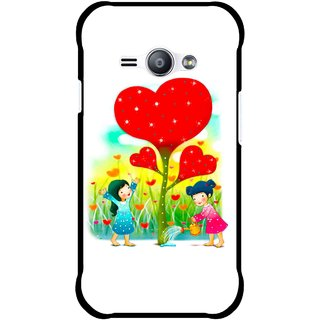 Snooky Printed Heart Plant Mobile Back Cover For Samsung Galaxy Ace J1 - Multicolour