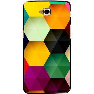 Snooky Printed Hexagon Mobile Back Cover For Lg G Pro Lite - Multicolour