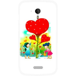 Snooky Printed Heart Plant Mobile Back Cover For Micromax A116 - Multicolour