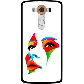 Snooky Printed Modern Girl Mobile Back Cover For Lg V10 - Multi