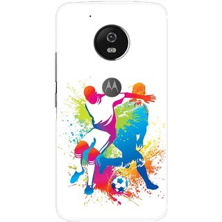 Snooky Printed Footbal Mania Mobile Back Cover For Moto G5 - Multi
