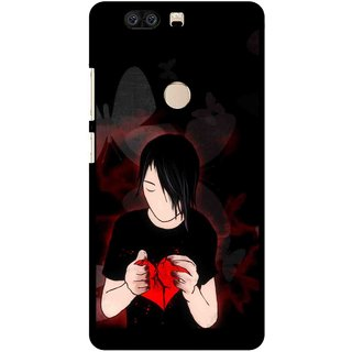 Snooky Printed Broken Heart Mobile Back Cover For Huawei Honor 8 - Multi