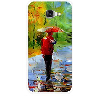 Snooky Printed Painting Mobile Back Cover For Samsung Galaxy A7 2016 - Multi