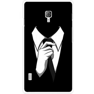 Snooky Printed White Collar Mobile Back Cover For Lg Optimus L7 II P715 - Multicolour
