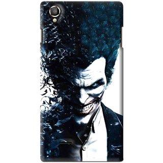 Snooky Printed Freaking Joker Mobile Back Cover For Lava Iris 800 - Black