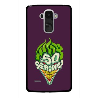 Snooky Printed Serious Mobile Back Cover For Lg G4 Stylus - Multi
