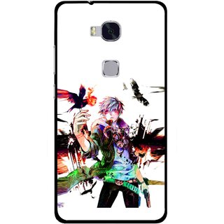 Snooky Printed Angry Man Mobile Back Cover For Huawei Honor 5X - Multi