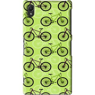 Snooky Printed Cycle Mobile Back Cover For Sony Xperia Z2 - Green