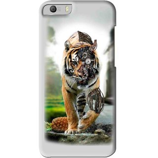 Snooky Printed Mechanical Lion Mobile Back Cover For Micromax Canvas Knight 2 E471 - Grey