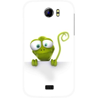Snooky Printed Seeking Alien Mobile Back Cover For Micromax Canvas 2 A110 - Multicolour