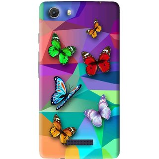 Snooky Printed Trendy Buterfly Mobile Back Cover For Micromax Canvas Unite 3 - Multi