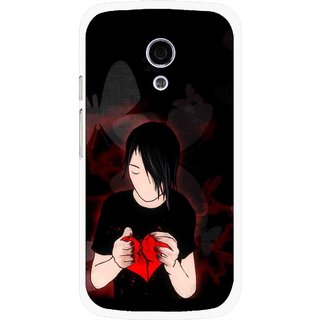 Snooky Printed Broken Heart Mobile Back Cover For Moto G2 - Multi