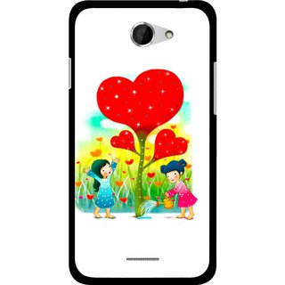 Snooky Printed Heart Plant Mobile Back Cover For HTC Desire 516 - Multicolour