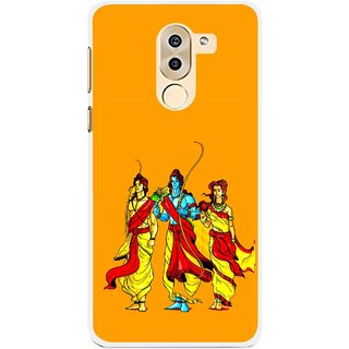 Snooky Printed God Rama Mobile Back Cover For Huawei Honor 6X - Orrange