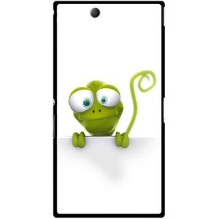 Snooky Printed Seeking Alien Mobile Back Cover For Sony Xperia Z Ultra - Multicolour