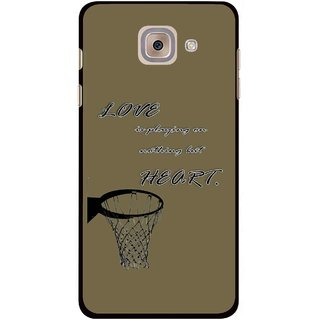 Snooky Printed Heart Games Mobile Back Cover For Samsung Galaxy J7 Max - Brown