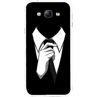 Snooky Printed White Collar Mobile Back Cover For Samsung Galaxy A8 - Multicolour