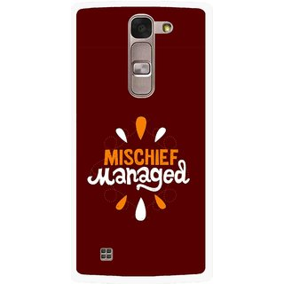 Snooky Printed Mischief Mobile Back Cover For Lg Spirit - Brown