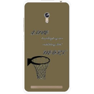 Snooky Printed Heart Games Mobile Back Cover For Asus Zenfone 6 - Brown