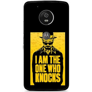 Snooky Printed Who Knocks Mobile Back Cover For Moto G5 Plus - Black