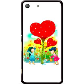 Snooky Printed Heart Plant Mobile Back Cover For Sony Xperia M5 - Multicolour