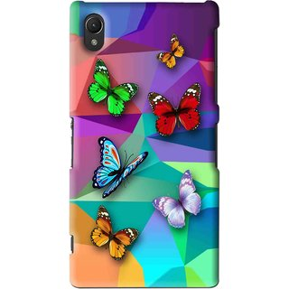 Snooky Printed Trendy Buterfly Mobile Back Cover For Sony Xperia Z2 - Multi