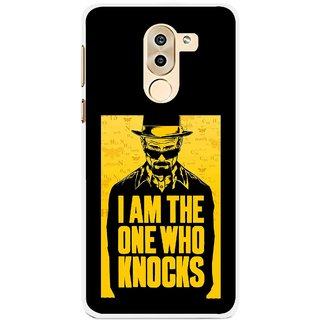 Snooky Printed Who Knocks Mobile Back Cover For Huawei Honor 6X - Black