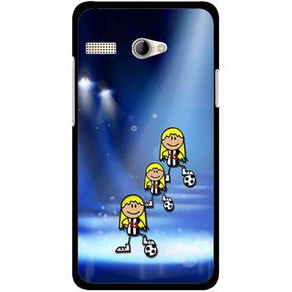 Snooky Printed Girls On Top Mobile Back Cover For Intex Aqua 3G Pro - Multicolour
