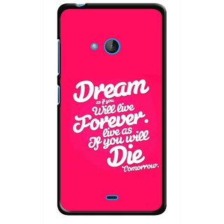 Snooky Printed Live the Life Mobile Back Cover For Nokia Lumia 540 - Multicolour