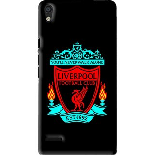 Snooky Printed Football Club Mobile Back Cover For Huawei Ascend P6 - Black