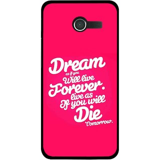 Snooky Printed Live the Life Mobile Back Cover For Asus Zenfone 4 - Multicolour