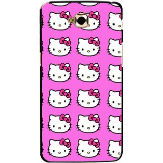 Snooky Printed Pink Kitty Mobile Back Cover For Lg G Pro Lite - Multicolour