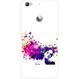Snooky Printed Flowery Girl Mobile Back Cover For Letv Le 1S - Multi