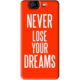 Snooky Printed Never Loose Mobile Back Cover For Micromax Canvas A350 - Orange