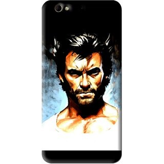 Snooky Printed Angry Man Mobile Back Cover For Gionee Elife S6 - Black