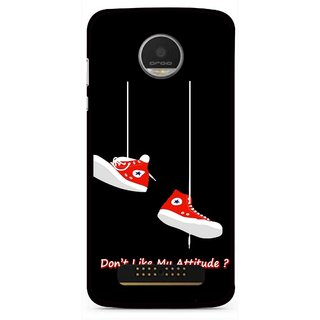 Snooky Printed Attitude Mobile Back Cover For Moto Z - Multi