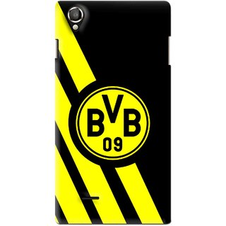 Snooky Printed Sports Logo Mobile Back Cover For Lava Iris 800 - Black