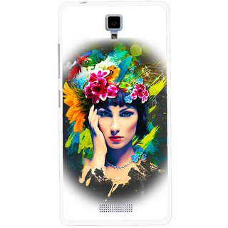 Snooky Printed Classy Girl Mobile Back Cover For Gionee Pioneer P4 - Multicolour